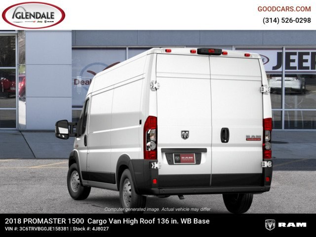 2018 ProMaster 1500 High Roof FWD,  Empty Cargo Van #4J8027 - photo 3
