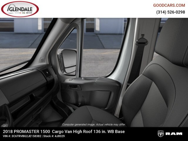 2018 ProMaster 1500 High Roof FWD,  Empty Cargo Van #4J8029 - photo 2