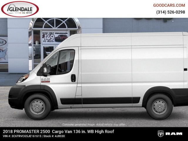 2018 ProMaster 2500 High Roof FWD,  Empty Cargo Van #4J8030 - photo 5