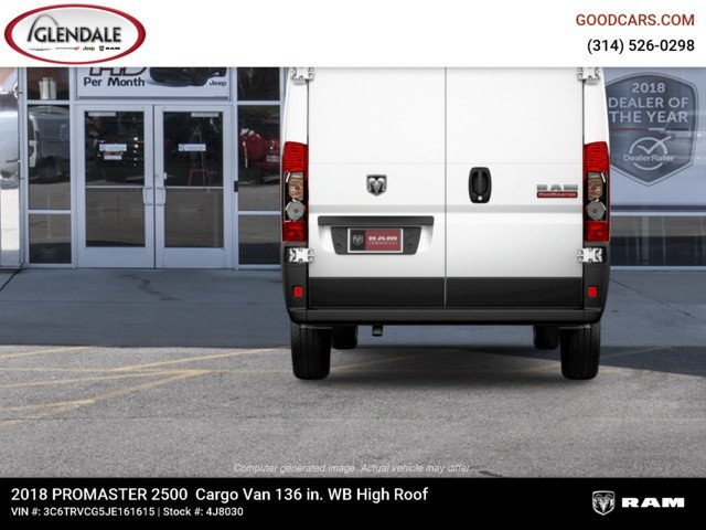 2018 ProMaster 2500 High Roof FWD,  Empty Cargo Van #4J8030 - photo 7