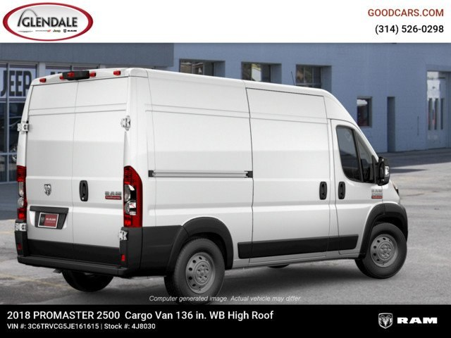2018 ProMaster 2500 High Roof FWD,  Empty Cargo Van #4J8030 - photo 9