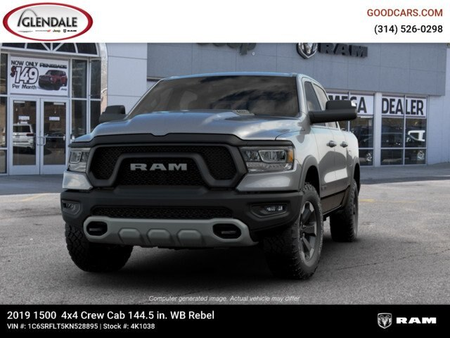 2019 Ram 1500 Crew Cab 4x4,  Pickup #4K1038 - photo 4
