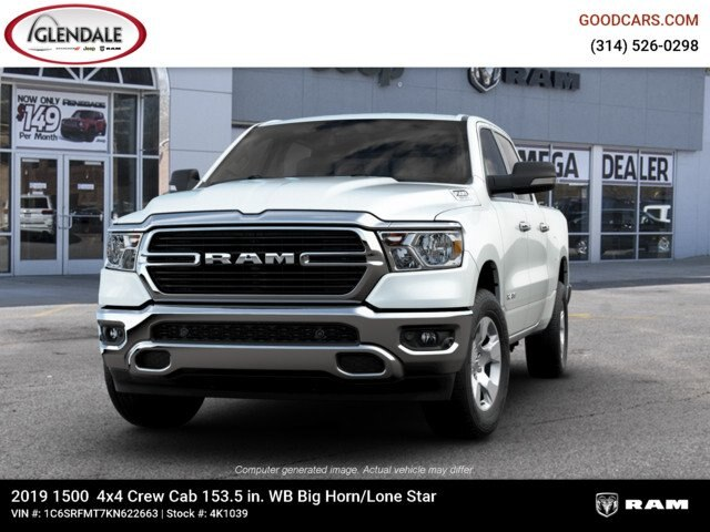 2019 Ram 1500 Crew Cab 4x4,  Pickup #4K1039 - photo 2