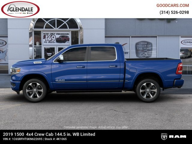 2019 Ram 1500 Crew Cab 4x4,  Pickup #4K1065 - photo 3