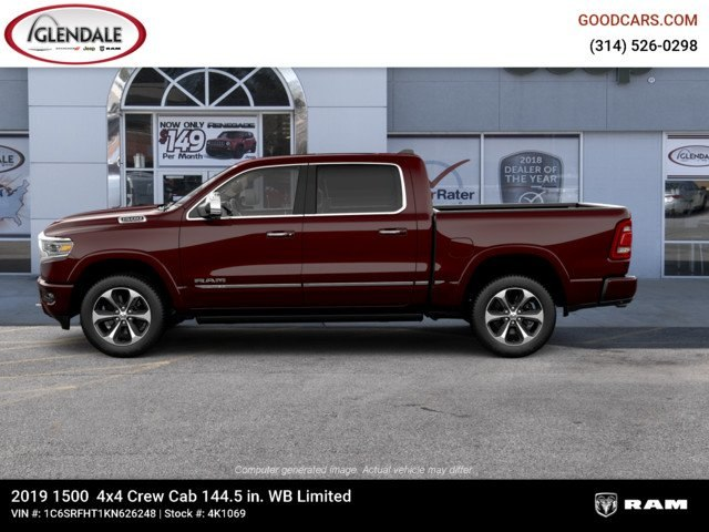 2019 Ram 1500 Crew Cab 4x4,  Pickup #4K1069 - photo 5