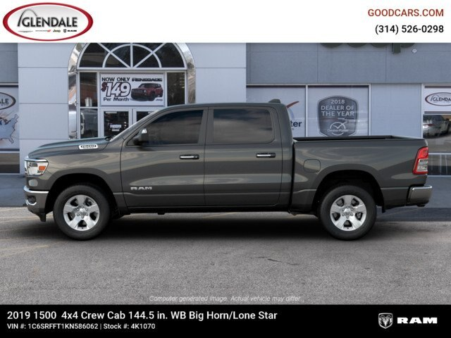 2019 Ram 1500 Crew Cab 4x4,  Pickup #4K1070 - photo 6