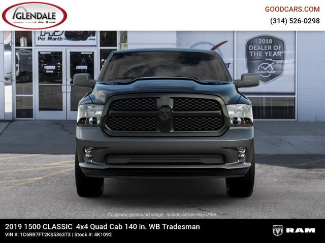 2019 Ram 1500 Quad Cab 4x4,  Pickup #4K1092 - photo 4