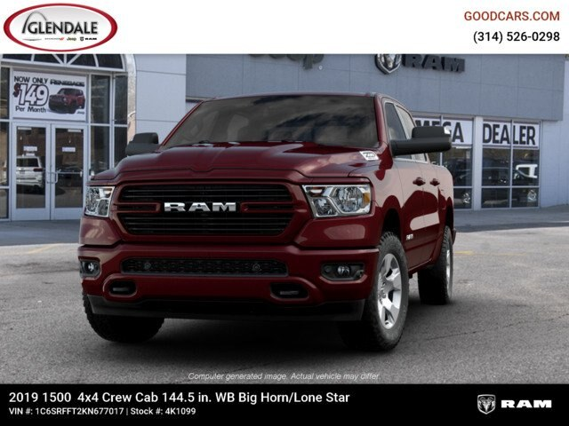 2019 Ram 1500 Crew Cab 4x4,  Pickup #4K1099 - photo 4