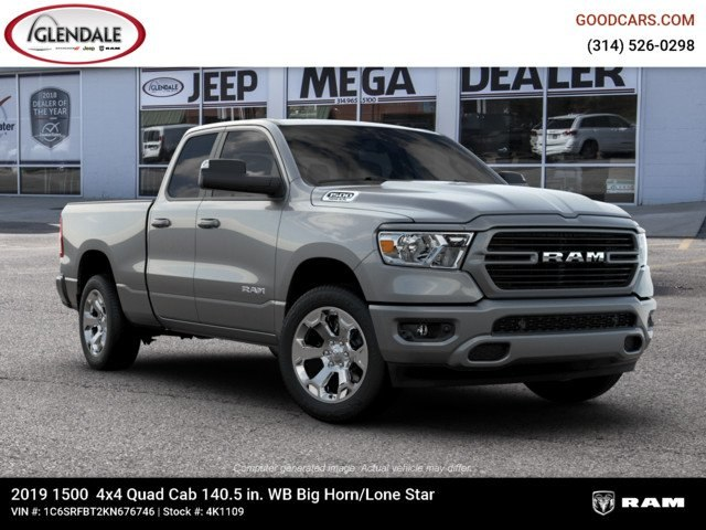 2019 Ram 1500 Quad Cab 4x4,  Pickup #4K1109 - photo 3