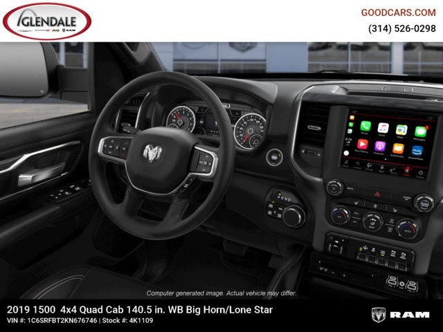 2019 Ram 1500 Quad Cab 4x4,  Pickup #4K1109 - photo 7