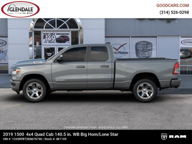 2019 Ram 1500 Quad Cab 4x4,  Pickup #4K1109 - photo 14