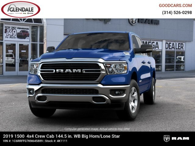 2019 Ram 1500 Crew Cab 4x4,  Pickup #4K1111 - photo 2