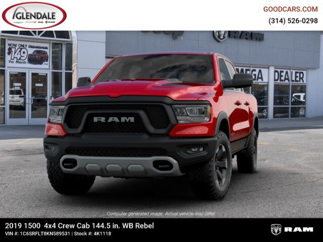 2019 Ram 1500 Crew Cab 4x4,  Pickup #4K1118 - photo 4