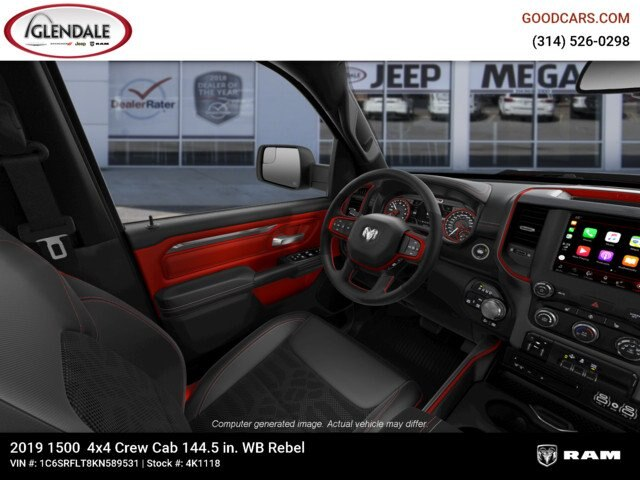 2019 Ram 1500 Crew Cab 4x4,  Pickup #4K1118 - photo 14