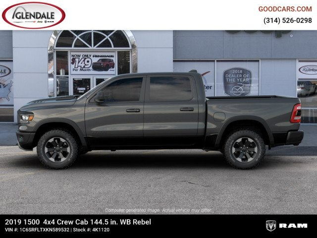 2019 Ram 1500 Crew Cab 4x4,  Pickup #4K1120 - photo 7