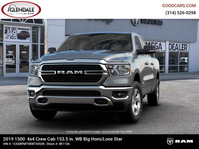 2019 Ram 1500 Crew Cab 4x4,  Pickup #4K1136 - photo 2