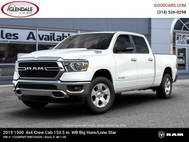 2019 Ram 1500 Crew Cab 4x4,  Pickup #4K1138 - photo 3