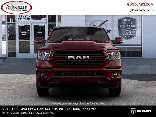 2019 Ram 1500 Crew Cab 4x4,  Pickup #4K1145 - photo 3