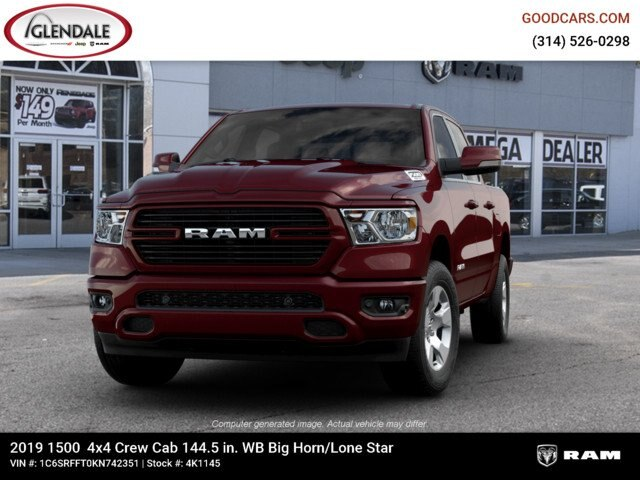 2019 Ram 1500 Crew Cab 4x4,  Pickup #4K1145 - photo 4