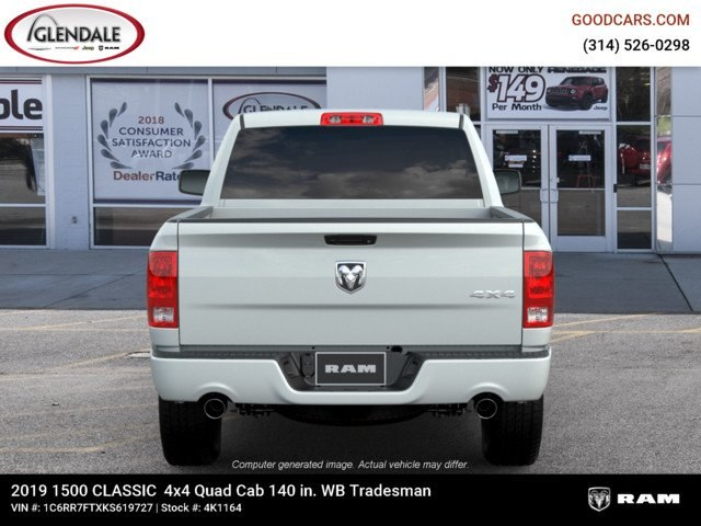 2019 Ram 1500 Quad Cab 4x4,  Pickup #4K1164 - photo 7