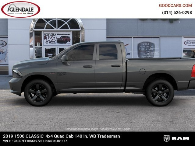 2019 Ram 1500 Quad Cab 4x4,  Pickup #4K1167 - photo 5