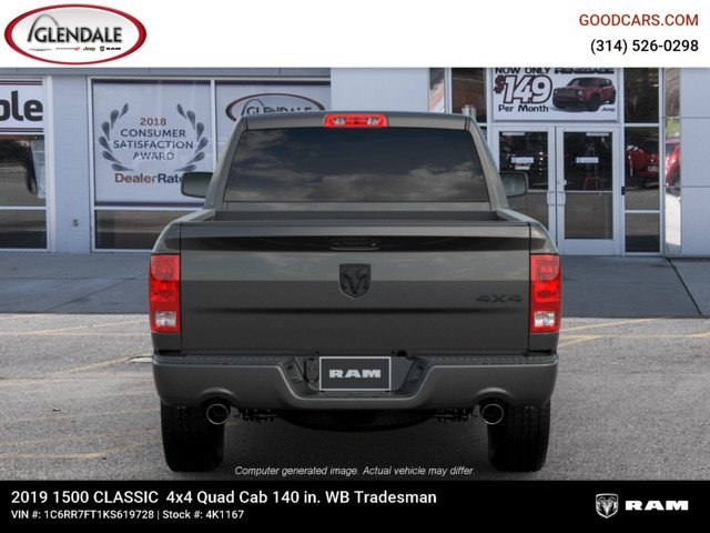 2019 Ram 1500 Quad Cab 4x4,  Pickup #4K1167 - photo 7
