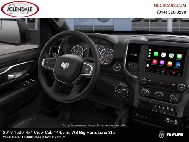 2019 Ram 1500 Crew Cab 4x4,  Pickup #4K1192 - photo 8