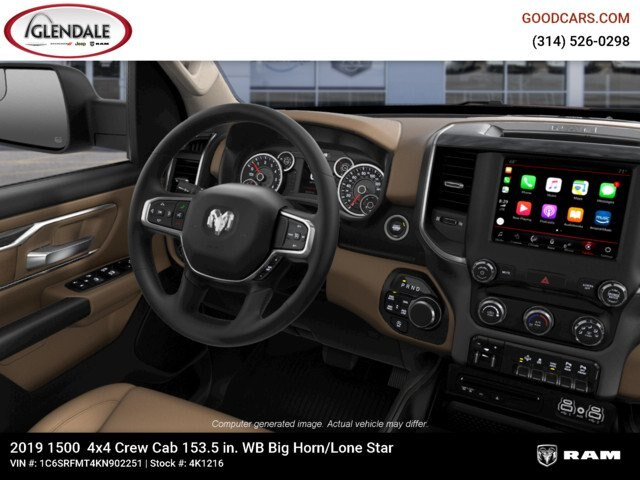 2019 Ram 1500 Crew Cab 4x4,  Pickup #4K1216 - photo 14