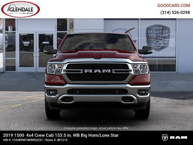 2019 Ram 1500 Crew Cab 4x4,  Pickup #4K1216 - photo 3