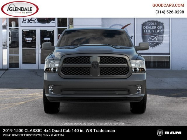 2019 Ram 1500 Quad Cab 4x4,  Pickup #4K6016 - photo 1