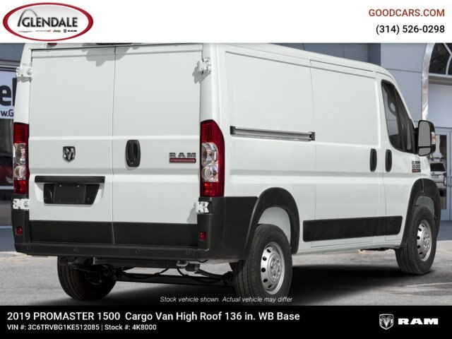 2019 ProMaster 1500 High Roof FWD,  Empty Cargo Van #4K8000 - photo 5