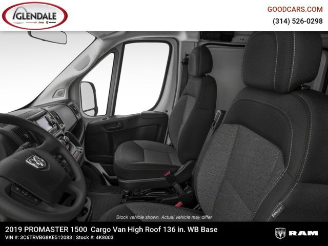 2019 ProMaster 1500 High Roof FWD,  Empty Cargo Van #4K8003 - photo 12
