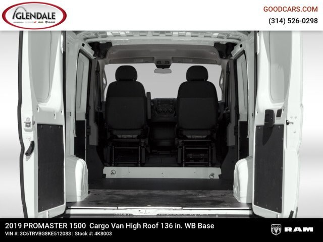 2019 ProMaster 1500 High Roof FWD,  Empty Cargo Van #4K8003 - photo 2