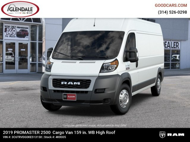 2019 ProMaster 2500 High Roof FWD,  Empty Cargo Van #4K8005 - photo 5
