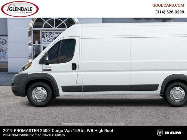 2019 ProMaster 2500 High Roof FWD,  Empty Cargo Van #4K8005 - photo 6