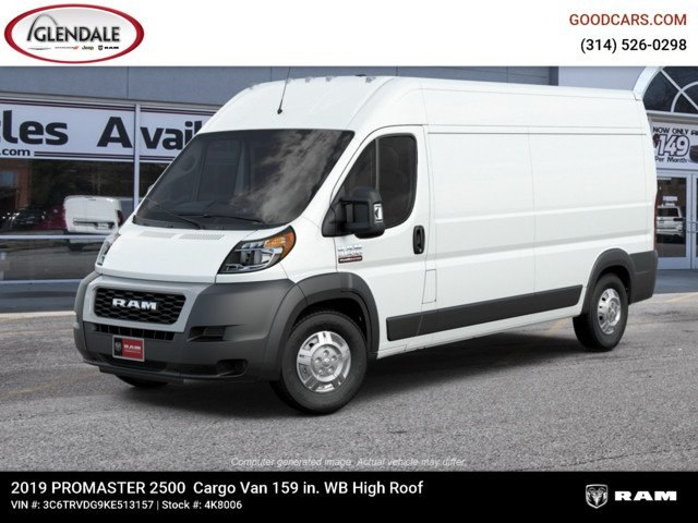 2019 ProMaster 2500 High Roof FWD,  Empty Cargo Van #4K8006 - photo 1