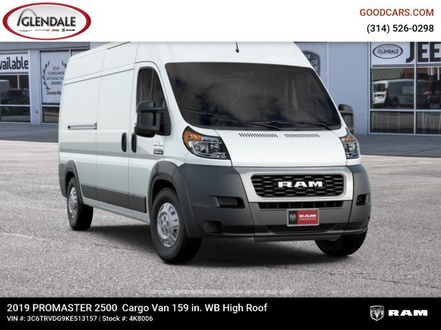2019 ProMaster 2500 High Roof FWD,  Empty Cargo Van #4K8006 - photo 13