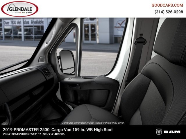 2019 ProMaster 2500 High Roof FWD,  Empty Cargo Van #4K8006 - photo 15