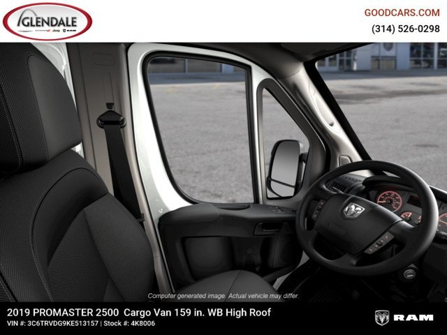 2019 ProMaster 2500 High Roof FWD,  Empty Cargo Van #4K8006 - photo 3