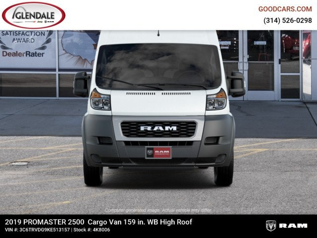 2019 ProMaster 2500 High Roof FWD,  Empty Cargo Van #4K8006 - photo 4