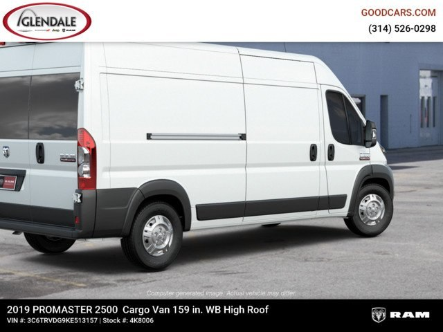 2019 ProMaster 2500 High Roof FWD,  Empty Cargo Van #4K8006 - photo 10