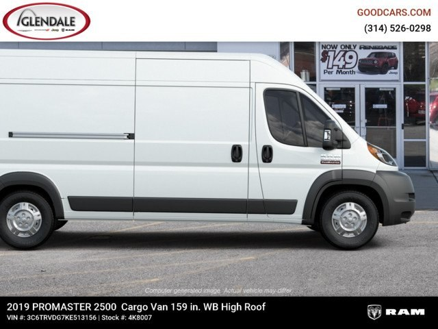 2019 ProMaster 2500 High Roof FWD,  Empty Cargo Van #4K8007 - photo 11