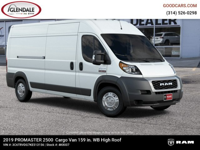 2019 ProMaster 2500 High Roof FWD,  Empty Cargo Van #4K8007 - photo 12
