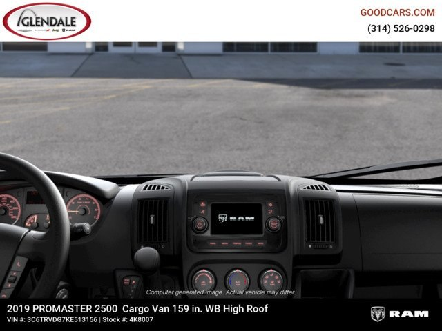 2019 ProMaster 2500 High Roof FWD,  Empty Cargo Van #4K8007 - photo 14