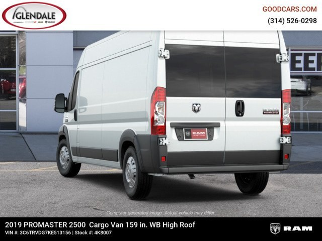 2019 ProMaster 2500 High Roof FWD,  Empty Cargo Van #4K8007 - photo 2