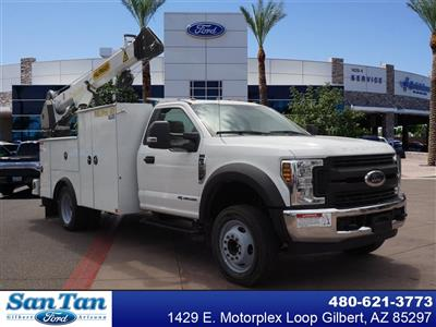 2019 Ford F-550, Palfinger 11' Mechanics truck with 8,000 pound crane and 29' Boom