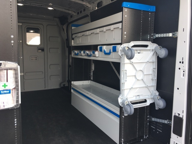 2018 Transit 250 Med Roof 4x2,  Sortimo Upfitted Cargo Van #F71870 - photo 16