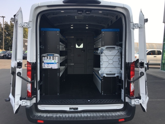 2018 Transit 250 Med Roof 4x2,  Sortimo Upfitted Cargo Van #F71870 - photo 2