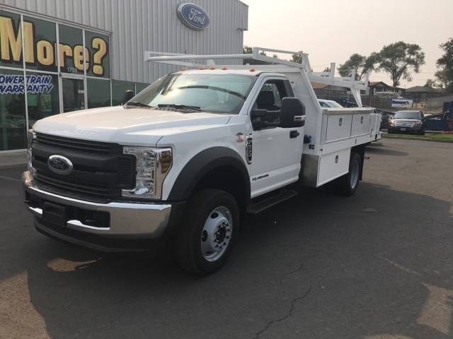 2018 F-550 Regular Cab DRW 4x4,  Harbor Contractor Body #F71882 - photo 3