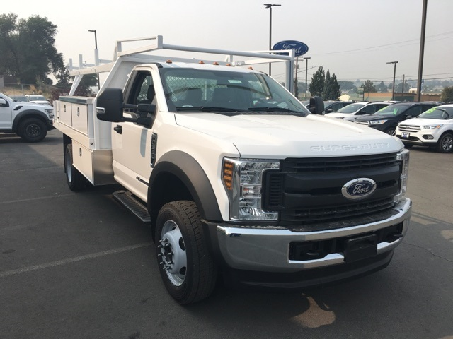 2018 F-550 Regular Cab DRW 4x4,  Harbor Contractor Body #F71882 - photo 5
